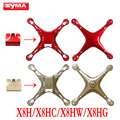 The latest Syma X8H X8HC X8HW X8HG Main Body shell Cover RC helicopter toy Spare Parts For quadcopter Gold Red battery cover