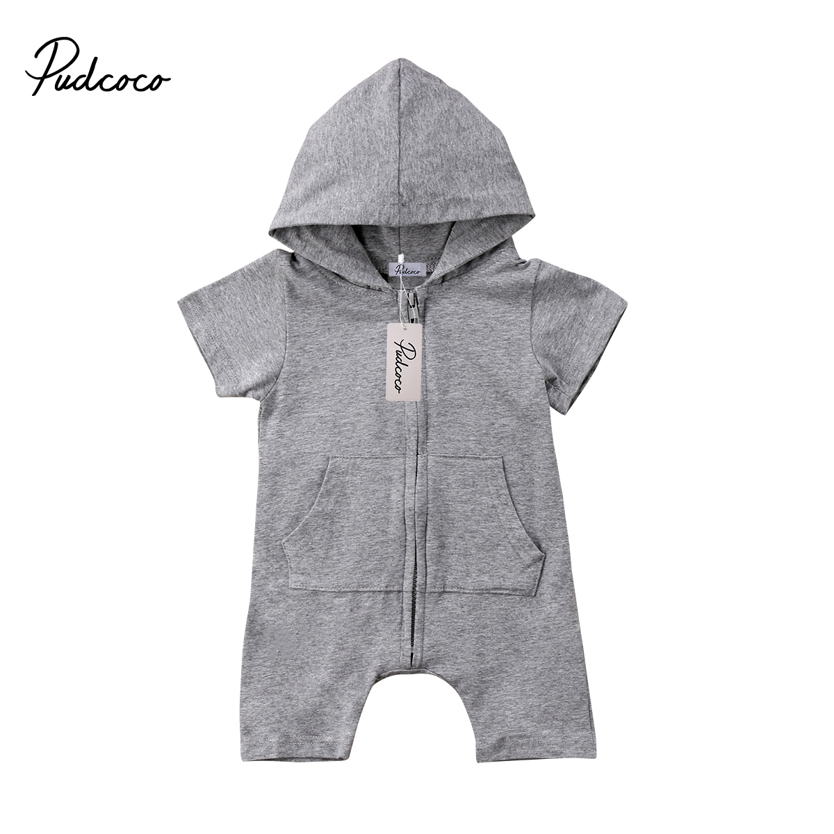 Pudcoco Newborn Toddler Baby Boy Girl Hooded Romper Jumpsuit Playsuit Boys Clothes Outfits toddler baby cactus romper infant girl boy cute cotton clothes rompers jumpsuit playsuit outfits