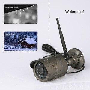 Image 3 - Techage 4CH 1080P bezprzewodowy 2MP Wifi system kamer bezpieczeństwa 12 cal Monitor LCD NVR HD zapis Audio CCTV zestaw do nadzorowania 2TB HDD