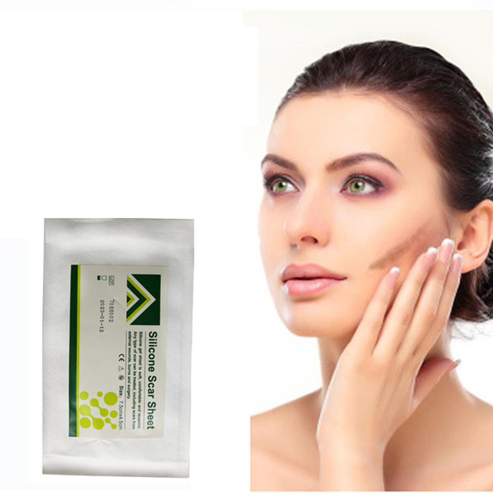 Nuovo Organico Gel di silicone Cicatrice Therapy Patch 1 Pezzo essere Lavato e Riutilizzato 7.5 CM * 4.5 CM