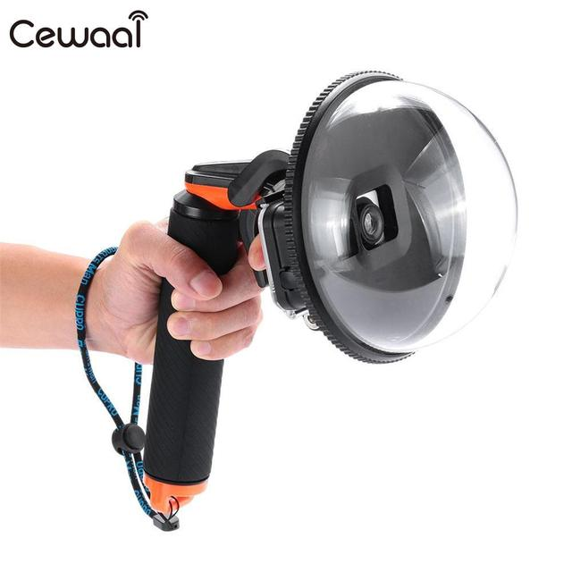 """Cewaal Professional 5"""" Underwater Diving Cam Fish Eyes Lens Dome Port Cover Shell for Gopro Hero 5 Camera Black"""