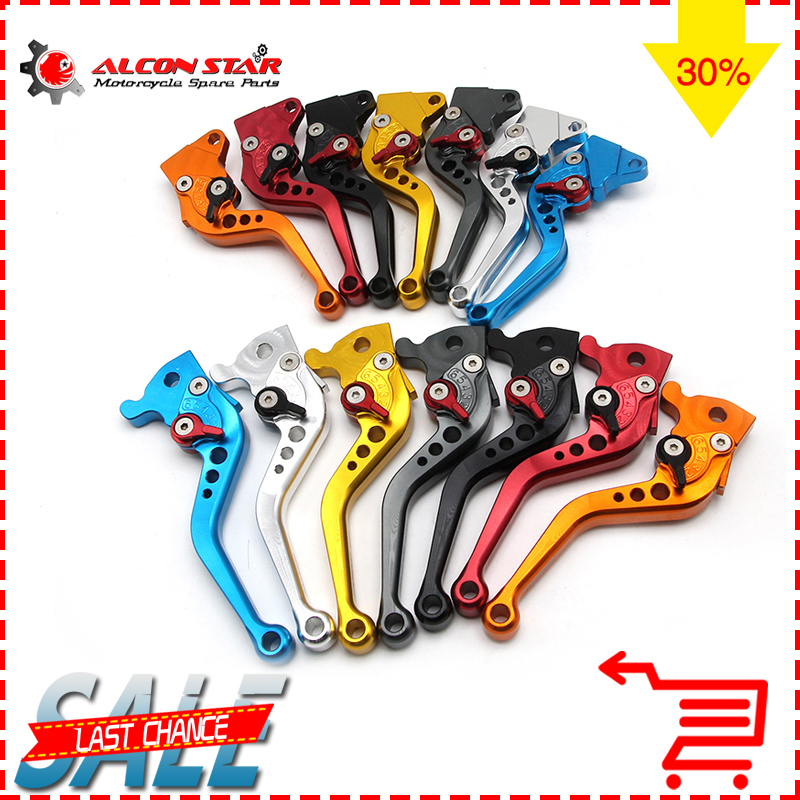 Alconstar-Adjustable Motorcycle Brake Clutch Lever Scooter Electric Modify Brake Lever For GY6 JOG 110CC XMAX Adjustable keoghs real adelin 260mm floating brake disc high quality for yamaha scooter cygnus modify