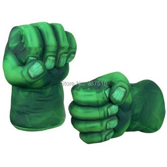 Невероятный Халк Smash Руки Чучела Плюшевые Перчатки Косплей Бокс Руки Одна Пара Мягкие Игрушки Для детских подарков