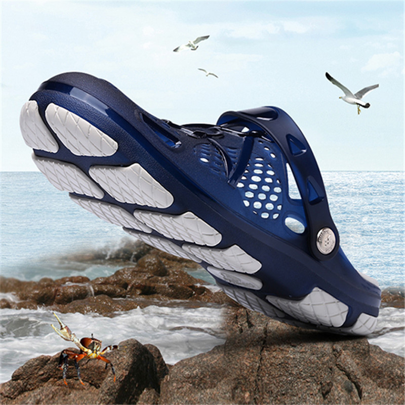 123d8972cbb4 Men flip flops Mens Sandles jelly Beach Water Upstream Summer Male Beach  Flat Heel Shoes non slip Home Slippers zapatos hombre J-in Men s Sandals  from Shoes ...