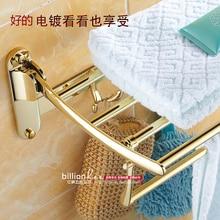 La nouvelle salle de bains d'or porte-serviettes European American style salle de bains porte-serviettes pliage toilette rack crochet