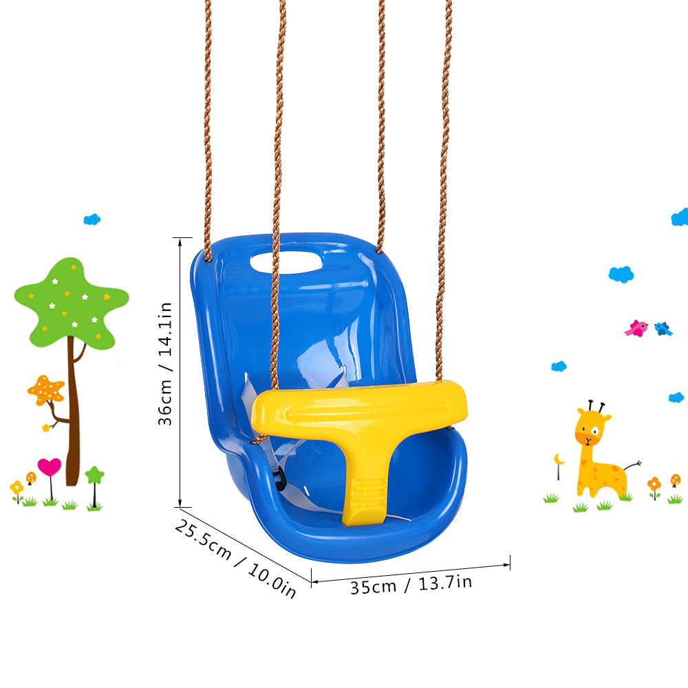 Balanço Da Árvore do bebê Crianças Kid Assento Do Balanço de Plástico Assento Do Balanço Pendurado Interior Playground Quintal Férias de Verão Presente com Corda