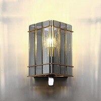 Творческий светодиодный настенный светильник железа Книги по искусству Стекло теплый свет для Спальня Гостиная Проход Коридор Настенный В