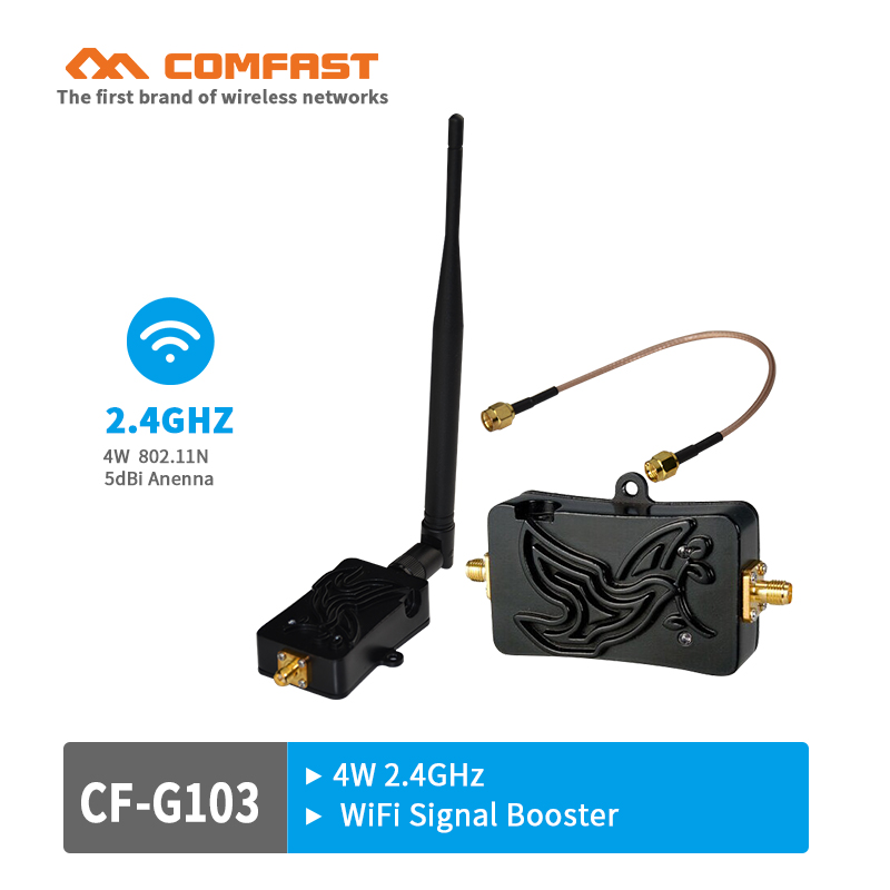 COMFAST 2.4Ghz 4W 802.11n Wireless Wifi Signal Booster Repeater Broadband Amplifiers for Wireless WI-FI Router wireless adapter