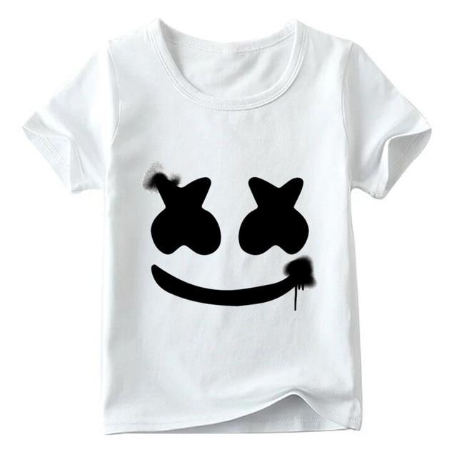 children dj marshmello hipster t shirt baby boys girls summer top