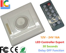 PWM IR LED Dimmer 12V 24V 8A Brightness Adjustable with 12 Button Wireless Remote Control for Strip Light CE Freeshipping