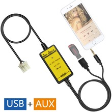 Car USB AUX Audio Mp3 Adapter CD Changer Adaptor for Mazda 2003-2008 Miata/MX5(non Bose), 1999-2003 Mazda 323