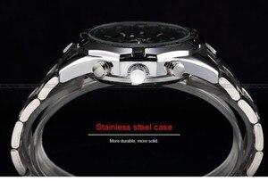 Image 4 - الفائز ساعات أوتوماتيكية وصفت الرجال الكلاسيكية الفولاذ المقاوم للصدأ الذاتي الرياح الهيكل العظمي الميكانيكية ساعة الموضة عبر ساعة اليد
