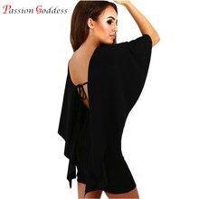Плюс Размеры Лето 2017 г. Для женщин пикантные Клубные Платья для вечеринок спинки Bodycon бинты плащ рукавом мини-платье элегантный vestidos роковой