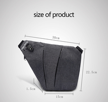 Compact Single Nylon Waterproof Shoulder Bag
