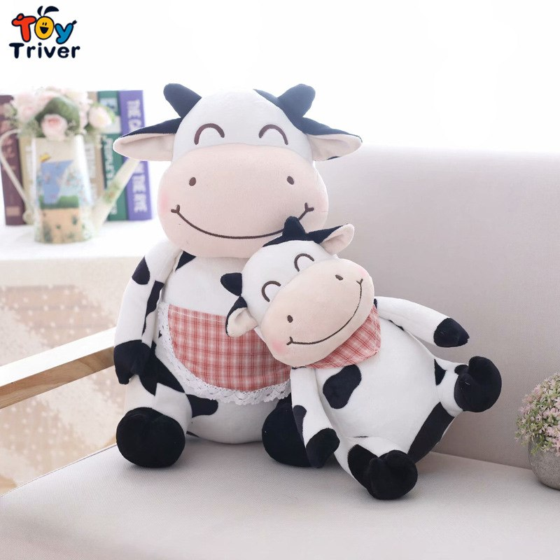 0b78f68d27d Plush Cow Toy Stuffed Cattle Doll Milk Dairy Cows Baby Kids Girl Children  Pet Puppy Birthday Christmas Gift Home Shop Decor