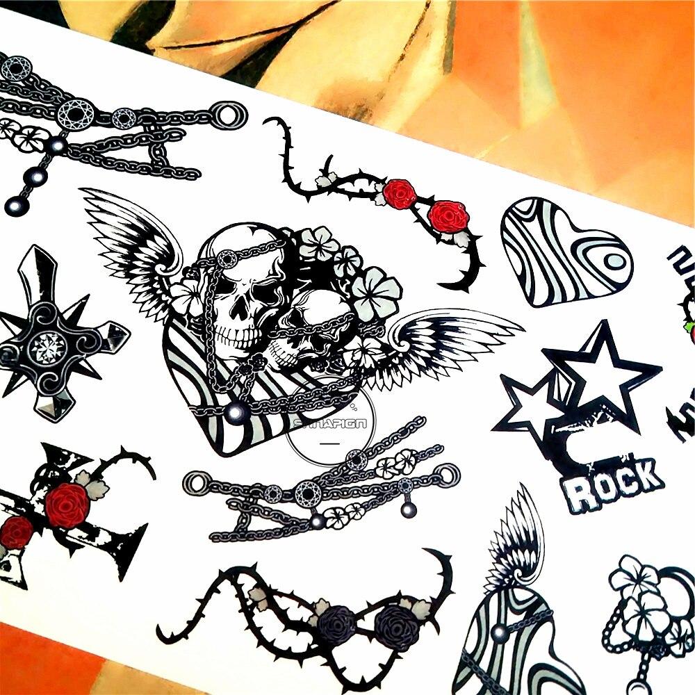 Us 06 18 Offshnapign Phantom Fahrrad Reiter Temporäre Tattoo Body Art Tattoo Flash Aufkleber 1710 Cm Wasserdichte Gefälschte Auto Styling Wand
