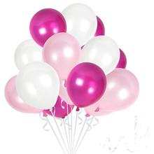 METABLE Pack of 50 light pink White Pink Balloons 12 Inch Lilac Thick Latex Balloon Bulk Party Supplies for Wedding. NO ribbon