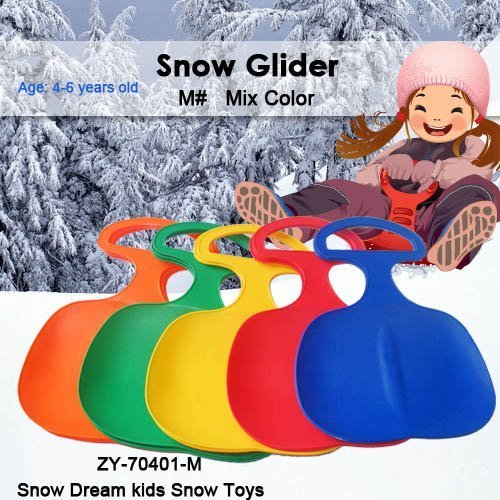 Hot Sale Free Shipping Mix Color Winter outdoor plastic snow sled for children---M#
