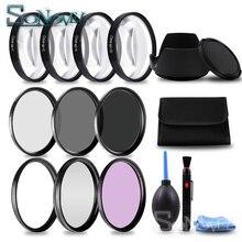 49 52 55 58 62 67 72 77 MM Macro gros plan filtre + 1 + 2 + 4 + 10 Set + UV CPL FLD + ND2 4 8 filtre dobjectif dappareil photo + capot pour Canon Nikon Sony