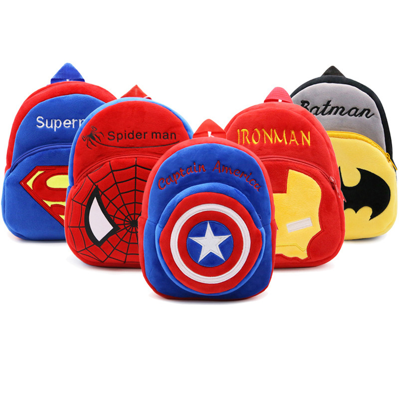Cartoon Superman font b School b font font b Bags b font For Children Girls Boys