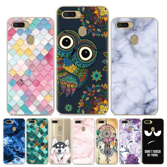 For OPPO AX7 Case Soft Silicone Back Cover Cartoon TPU Phone Case For OPPO A7 Case OPPO AX7 CPH1901 AX 7 OPPOAX7 Case Funda 6.2
