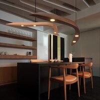 Современный Лофт вилла деревянные подвесной светильник Led китайский Стиль творческих висит свет светильников гостиная Обеденная светодио