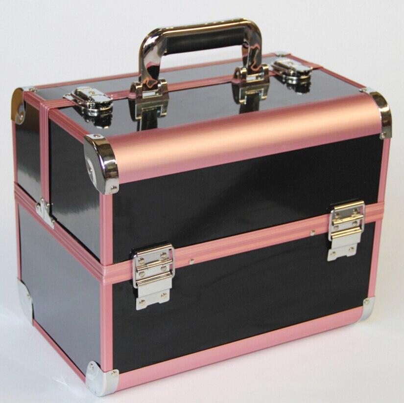 Nouveauté grande boîte de rangement organisateur de maquillage, valise organisateur cosmétique, cas de sac cosmétique de voyage de récipient de boîte de maquillage de femmes