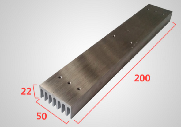 Fast Free Ship Heat sink extrusions high-power electronic radiator for LED 50*22*200mm customized heatsink