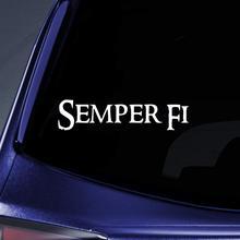 Bargain Max Decals - Semper Fi Marines Sticker Decal Notebook Car Laptop 6 (White)