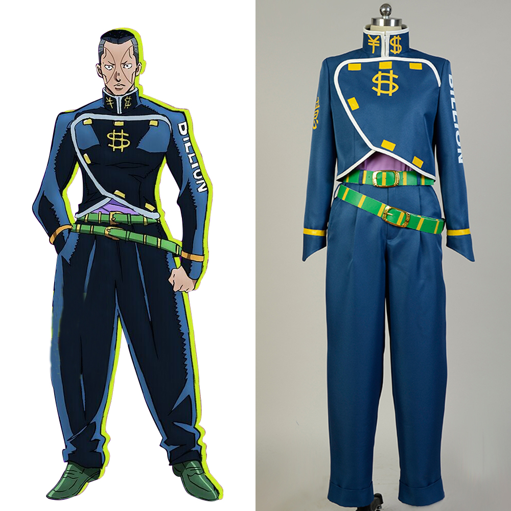 JoJo's Bizarre Adventure Cosplay Okuyasu Nijimura Cosplay Costume Full Sets Uniform Cosplay Halloween Carnival Women Men Costume