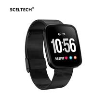 SCELTECH Smart Bracelet V6 Pro Color Screen Waterproof Wristband Heart Rate Monitor Blood Pressure Measure Fitness Tracker Band