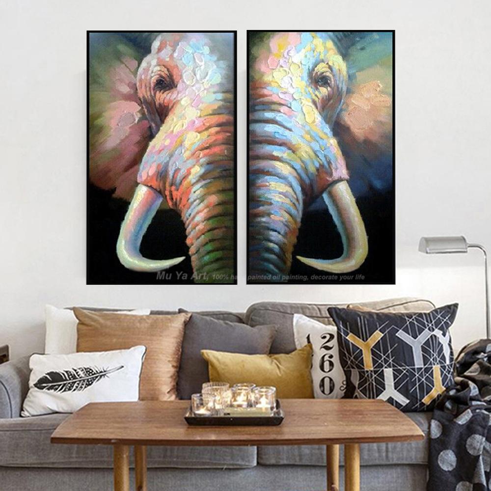 Abstrakte elefanten malerei leinwandbilder moderne abstrakte malerei ...