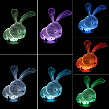 LED Rabbit Lamp