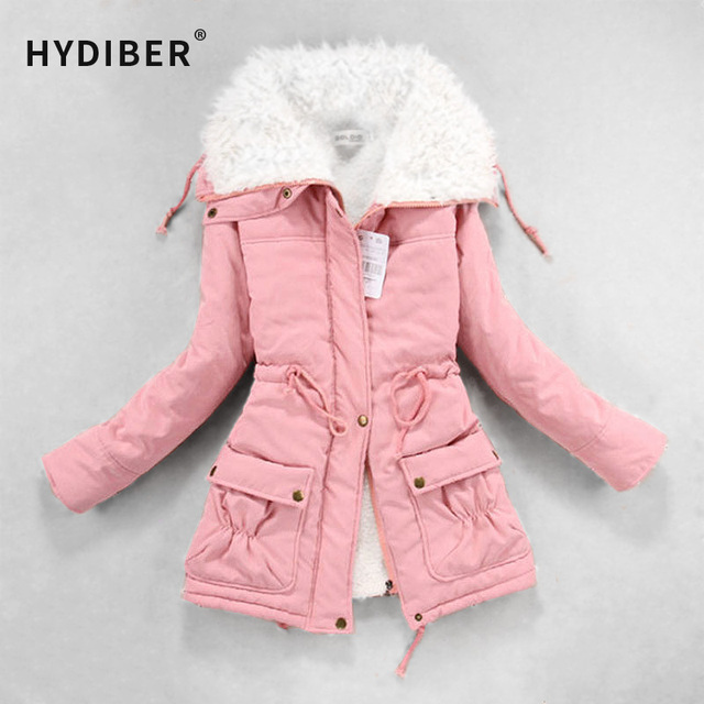 New 2017 Winter Coat Women Slim Plus Size Outwear Medium-Long Wadded Jacket Thick Hooded Cotton Fleece Warm Cotton Parkas