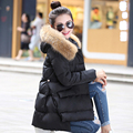 Womens Down Jackets 2016 Large Real Raccoon Fur Collar Winter Jacket Women Down Parka Loose Thickening Warm Outwear Clothing