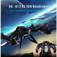 X8SW Drone H Forme Conception RC Quadcopter Hélicoptère 2.4G 4CH 6-Axis LED Lumière Hélicoptère Drones Sans Tête Mode RTF RC quadricoptères