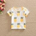 Новое поступление летний стиль BabyT рубашка удобный хлопок печать ананас фрукты дизайн дети девочки одежда