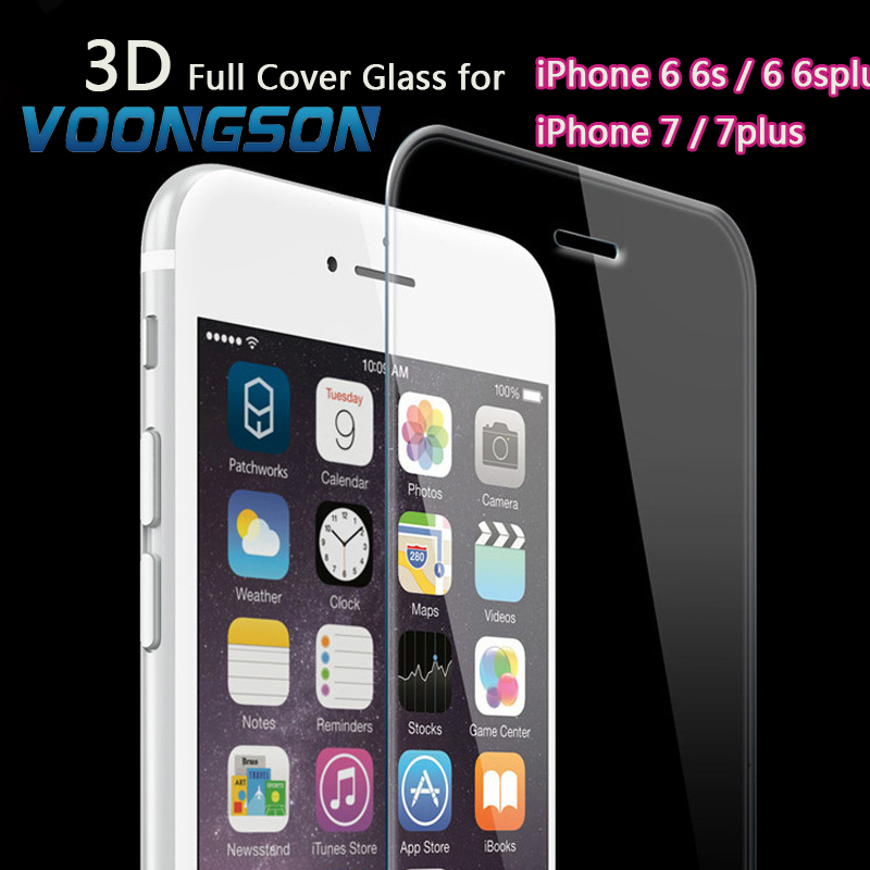 VOONGSON Full Cover 7G Tempered Glass For Apple iPhone 7 6 6s SE 5s Plus Premium Screen Anti Shatter Film Protector iphon