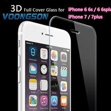 VOONGSON Full Cover 7G Tempered Glass For Apple iPhone 7 6 6s SE 5s Plus Premium Screen Anti Shatter Film Screen Protector iphon tempered glass screen protector anti shatter film for bluboo xtouch