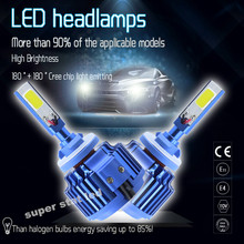 2X Plug&Play 6000K White  80W 8000LM LED H1 H3 880 881 Bulb Car Headlight  Kit  Headlamp  Fog  Daytime Running Light Car-styling