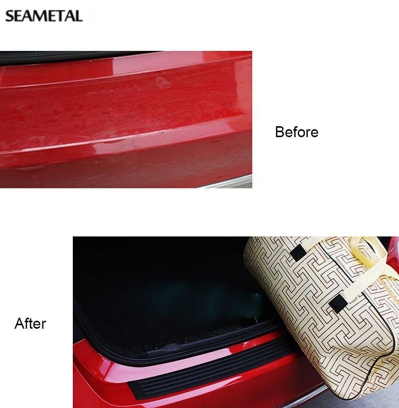 universal auto car rear bumper guard protector scratch rubber plastic trim strip ebay. Black Bedroom Furniture Sets. Home Design Ideas