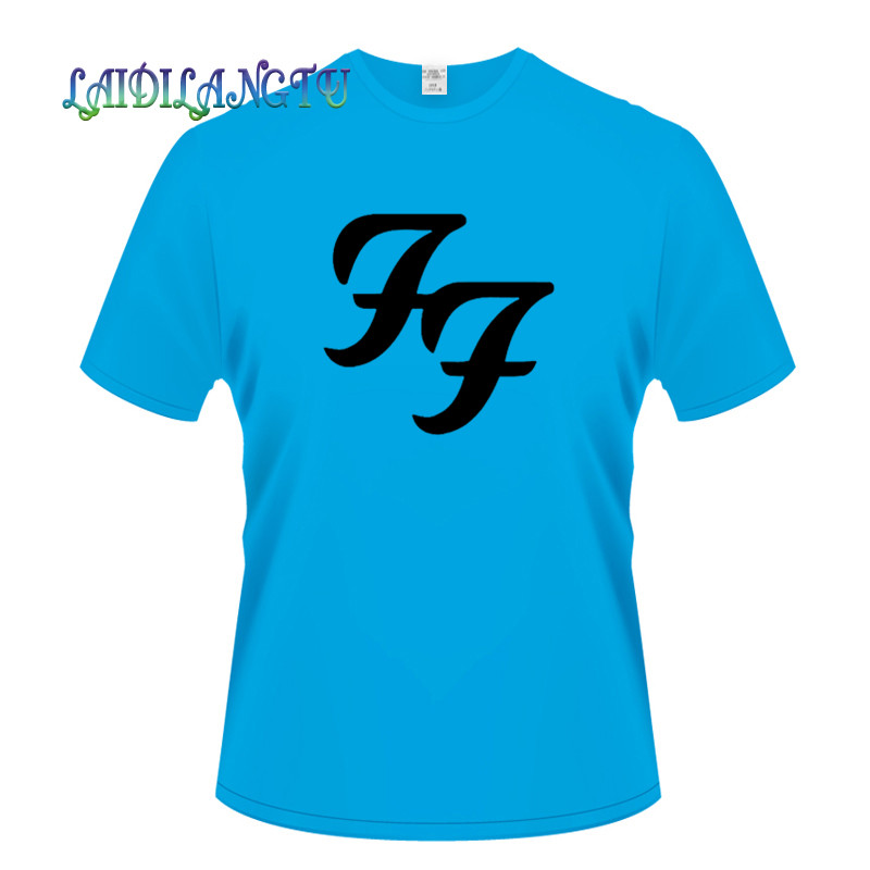 fashion men's T-shirt Hard Rock Roll Band T Shirts FF Letters Printed Dave Grohl Guitarist men's T-shirt wholesale image