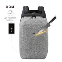 2018 DQM Cut resistant mochila USB 15.6 Laptop Backpacks Travel Anti Theft bag waterproof rucksack for man