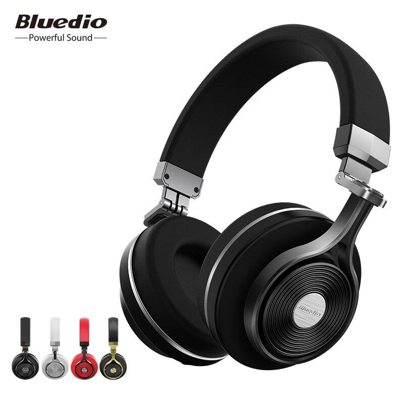 Bluedio T3 Cuffia Senza Fili di Bluetooth 3D Bass Auricolare Portatile Con Microfono Per La Musica Iphone Samsung Xiaomi Cuffia