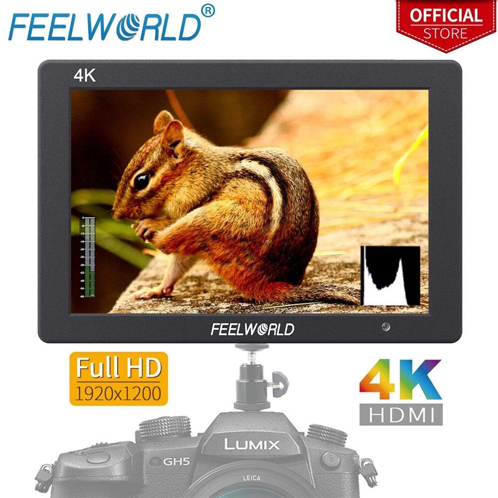 Feelworld T7 7 Inch IPS 1920x1200 4K Monitor Solid Aluminum Housing Video Camera Field Monitor HDMI for DSLR Canon Nikon Sony