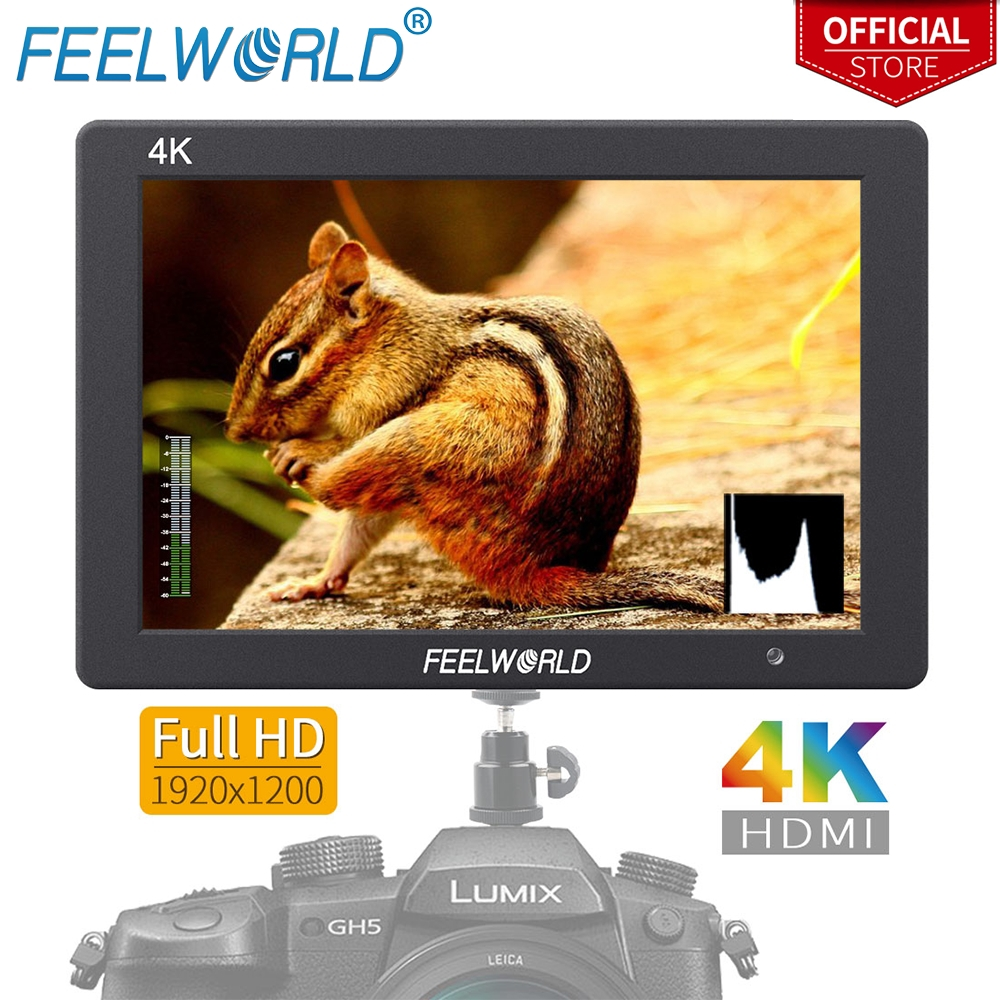 Feelworld T7 7 Inch IPS 1920x1200 HDMI On Camera Field Monitor Support 4K Input Output Video Monitor for DSLR Canon Nikon Sony