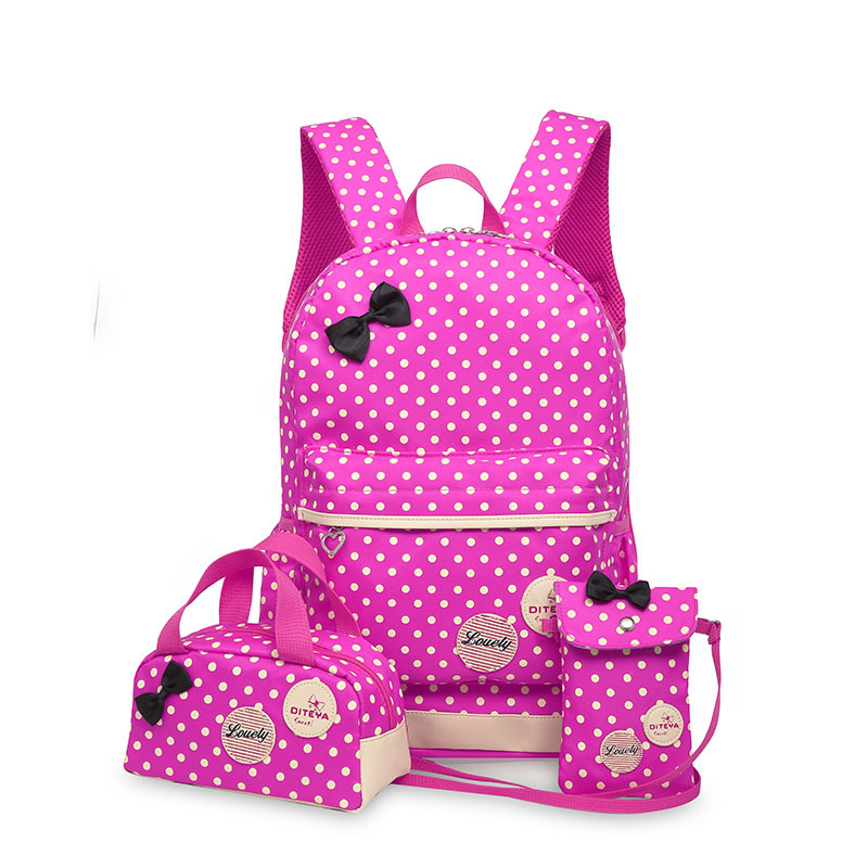 Korean primary school students bag cute princess fashion designer backpack 3 piece female children school backpack primary school students school bag 3 6 candy color preppy style backpack