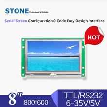 8 inch LCD module HMI with RS232 RS485 TTL USB port and controller board все цены