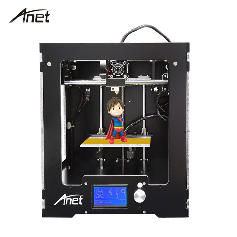 Anet A3 Full Assembled Desktop impresora 3D Printer Precision Reprap i3  Imprimante 3D Printers with 10m Filaments+8G SD Card anet auto level a2 aluminium 3d printer high precision reprap prusa i3 diy 3d printer kit lcd2004 screen with filaments sd card