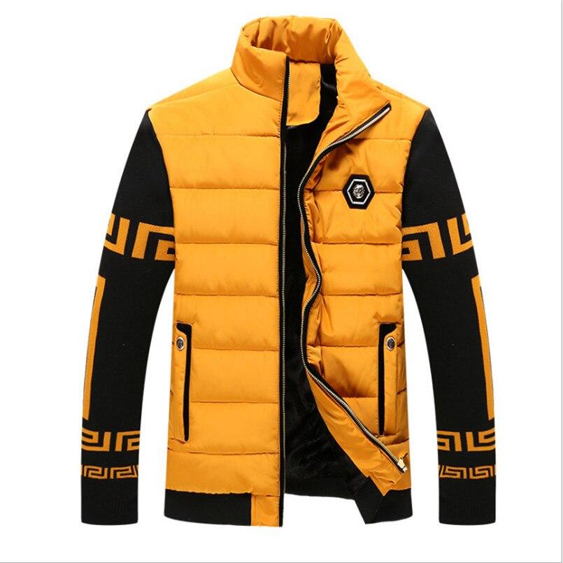 2018 Neue Kleidung Winter Jacke Männer Warm Kausal Parkas Baumwolle Gebändert Kragen Winter Jacke Männlich Gepolsterte Mantel Oberbekleidung Marke